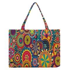 Tumblr Static Colorful Medium Zipper Tote Bag