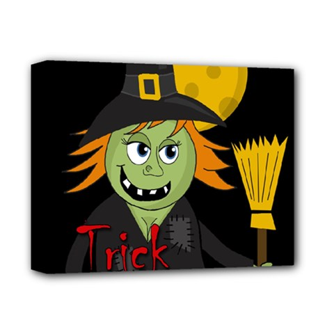 Halloween witch Deluxe Canvas 14  x 11