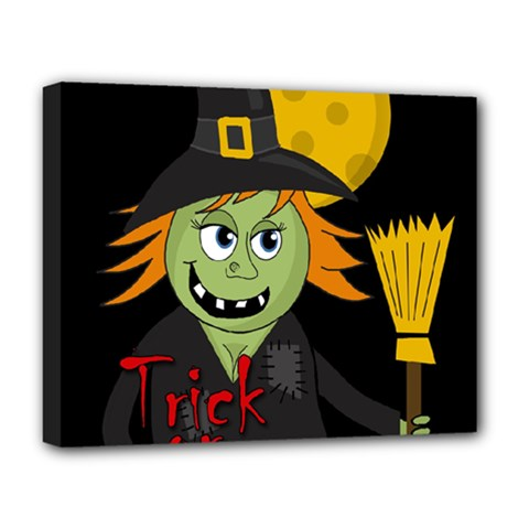 Halloween witch Deluxe Canvas 20  x 16