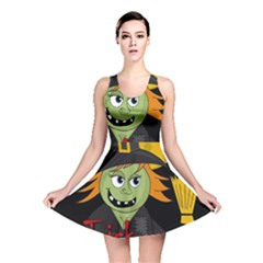 Halloween witch Reversible Skater Dress