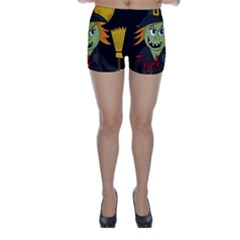Halloween witch Skinny Shorts