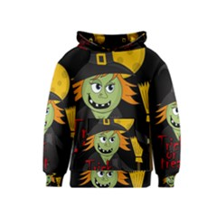 Halloween witch Kids  Pullover Hoodie