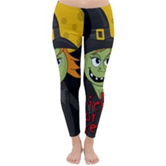 Halloween witch Winter Leggings