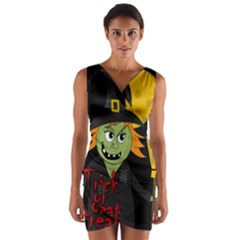 Halloween witch Wrap Front Bodycon Dress