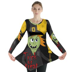 Halloween witch Long Sleeve Tunic