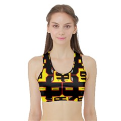 Give Me The Money  Sports Bra with Border