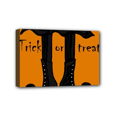 Halloween - witch boots Mini Canvas 6  x 4