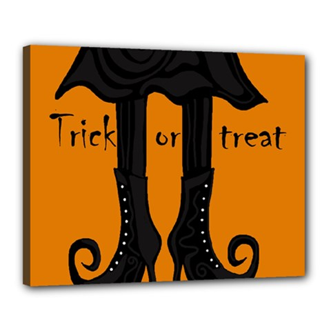 Halloween - witch boots Canvas 20  x 16