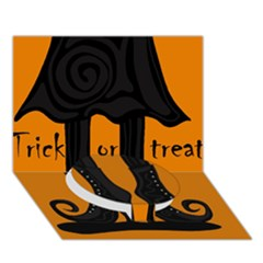 Halloween - witch boots Circle Bottom 3D Greeting Card (7x5)