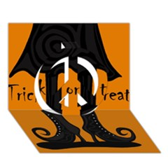 Halloween - witch boots Peace Sign 3D Greeting Card (7x5)