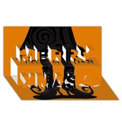 Halloween - witch boots Merry Xmas 3D Greeting Card (8x4)