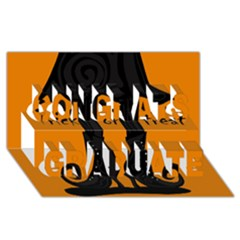 Halloween - witch boots Congrats Graduate 3D Greeting Card (8x4)