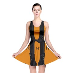 Halloween - witch boots Reversible Skater Dress
