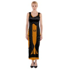 Halloween - witch boots Fitted Maxi Dress