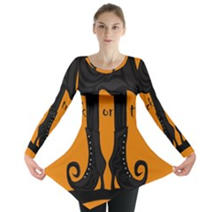 Halloween - witch boots Long Sleeve Tunic