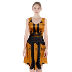 Halloween - witch boots Racerback Midi Dress