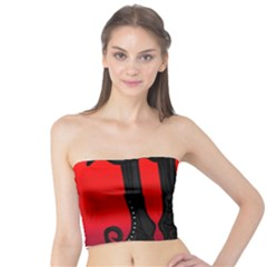 Halloween black witch Tube Top
