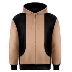 Black and Tan Men s Zipper Hoodie
