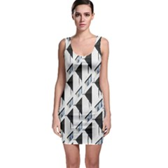 Building Architecture Windows Exterior Sleeveless Bodycon Dress