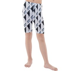 Building Architecture Windows Exterior Kids  Mid Length Swim Shorts