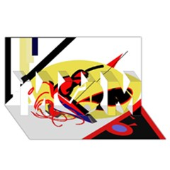 Abstract art MOM 3D Greeting Card (8x4)