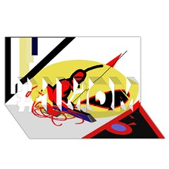 Abstract art #1 MOM 3D Greeting Cards (8x4)
