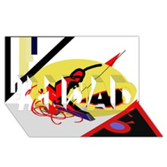 Abstract art #1 DAD 3D Greeting Card (8x4)