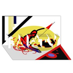 Abstract art PARTY 3D Greeting Card (8x4)