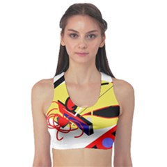 Abstract art Sports Bra