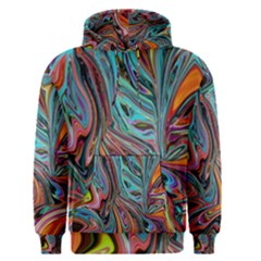 Brilliant Abstract In Blue, Orange, Purple, And Lime Green  Men s Pullover Hoodie