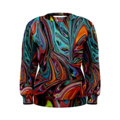 Brilliant Abstract In Blue, Orange, Purple, And Lime Green  Women s Sweatshirt