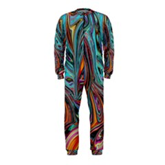 Brilliant Abstract in Blue, Orange, Purple, and Lime-Green  OnePiece Jumpsuit (Kids)