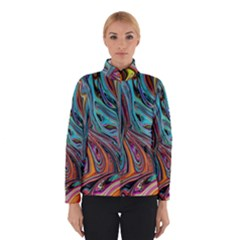 Brilliant Abstract in Blue, Orange, Purple, and Lime-Green  Winterwear