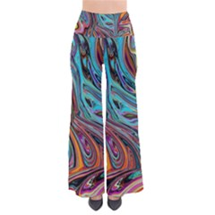 Brilliant Abstract In Blue, Orange, Purple, And Lime Green  Pants