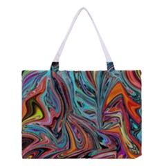 Brilliant Abstract In Blue, Orange, Purple, And Lime Green  Medium Tote Bag