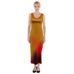 arp-orange-cirkle-gold 1 Fitted Maxi Dress