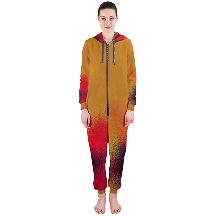 arp-orange-cirkle-gold 1 Hooded Jumpsuit (Ladies)