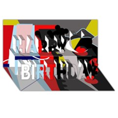 Looking forwerd Happy Birthday 3D Greeting Card (8x4)
