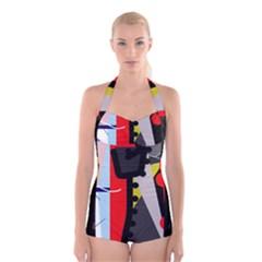 Looking Forwerd Boyleg Halter Swimsuit