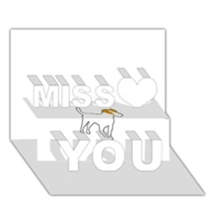 Jack Russell Terrier Color Silo Miss You 3D Greeting Card (7x5)