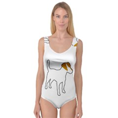 Jack Russell Terrier Color Silo Princess Tank Leotard