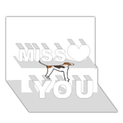 Treeing Walker Coonhound Silo Color Miss You 3D Greeting Card (7x5)