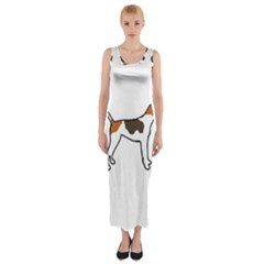 Treeing Walker Coonhound Silo Color Fitted Maxi Dress
