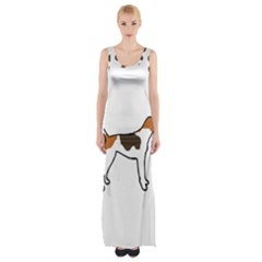 Treeing Walker Coonhound Silo Color Maxi Thigh Split Dress