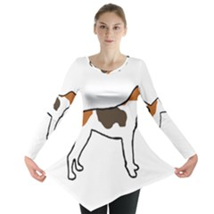 Treeing Walker Coonhound Silo Color Long Sleeve Tunic
