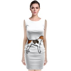 Treeing Walker Coonhound Silo Color Classic Sleeveless Midi Dress