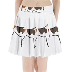 Treeing Walker Coonhound Silo Color Pleated Mini Skirt