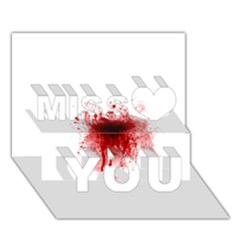 Gunshot Wound Miss You 3D Greeting Card (7x5)