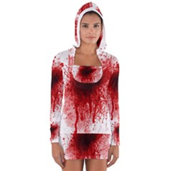 Gunshot Wound Women s Long Sleeve Hooded T-shirt