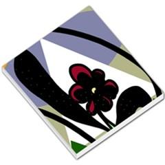 Black flower Small Memo Pads